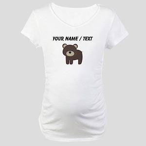 Cartoon Bear Maternity T-Shirt
