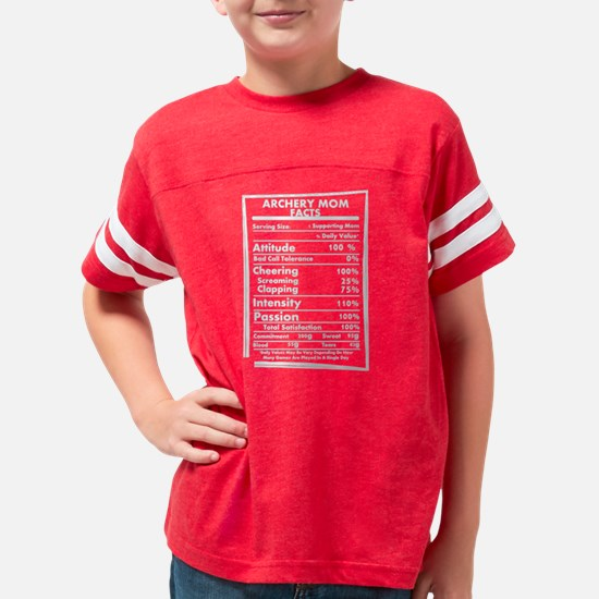 Archery Mom Facts Daily Value Youth Football Shirt