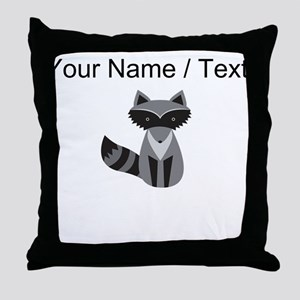 Cartoon Raccoon Throw Pillow