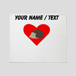 Cartoon Porcupine Heart Throw Blanket