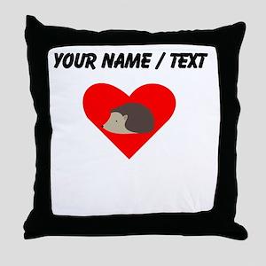 Cartoon Porcupine Heart Throw Pillow