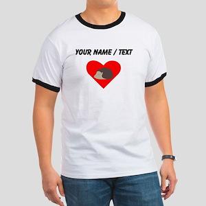 Cartoon Porcupine Heart T-Shirt