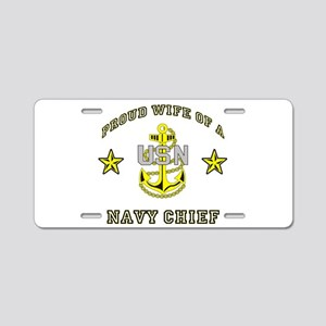chief wife Aluminum License Plate