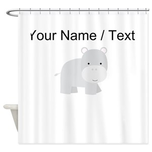Hippo Shower Curtains
