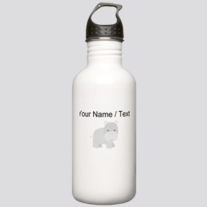 Cartoon Hippo Water Bottle