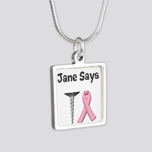 Jane Says Screw Cancer! Change to Your Name Neckla