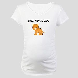 Cartoon Tiger Maternity T-Shirt