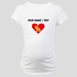 Cartoon Tiger Heart Maternity T-Shirt