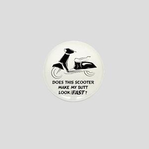 Fast Butt (Black) Mini Button