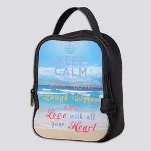 Keep Calm Live Well Laugh Neoprene Lunch Bag