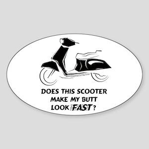 Fast Butt (Black) Oval Sticker
