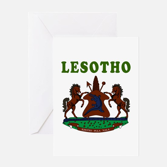 Lesotho Coat Of Arms Designs Greeting Card