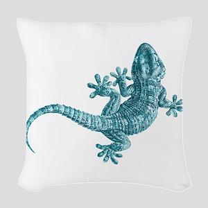 Gecko Woven Throw Pillow