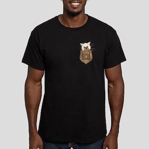 Pocket Kitty Cream Men's Fitted T-Shirt (dark)