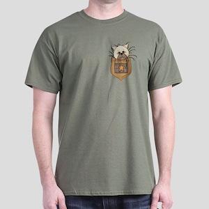 Pocket Kitty Cream Dark T-Shirt