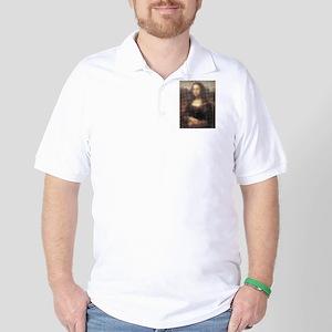 Mona Lisa Halftone Golf Shirt