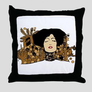 Klimty Face Throw Pillow