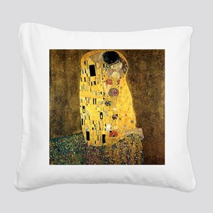 The Kiss Square Canvas Pillow