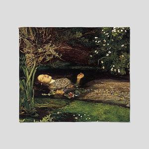 Millais Ophelia Throw Blanket