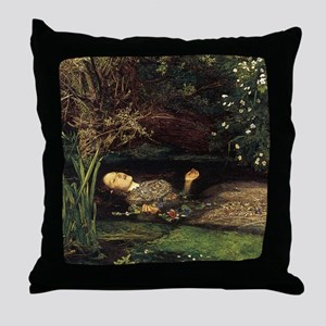 Millais Ophelia Throw Pillow