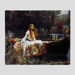 The Lady Of Shalott Throw Blanket
