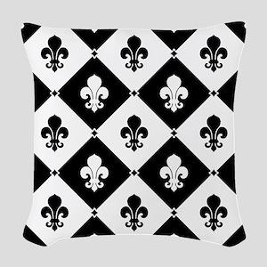 fleur-de-lis-pattern2_b Woven Throw Pillow