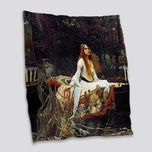 The Lady Of Shalott Burlap Throw Pillow
