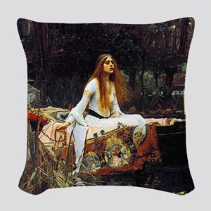 The Lady Of Shalott Woven Throw Pillow