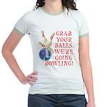 Grab Your Balls Bowling Jr. Ringer T-Shirt