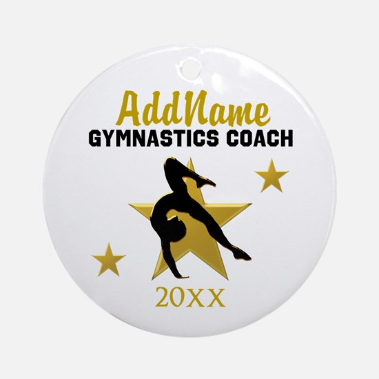 BEST GYMNAST COACH Ornament (Round)