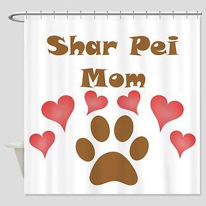 Shar Pei Mom Shower Curtain