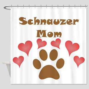 Schnauzer Mom Shower Curtain