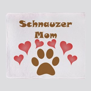 Schnauzer Mom Throw Blanket