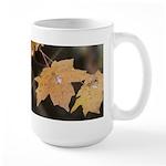 Pale Orange Leaf Large Mug