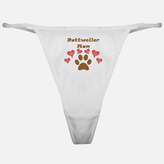 Rottweiler Mom Classic Thong