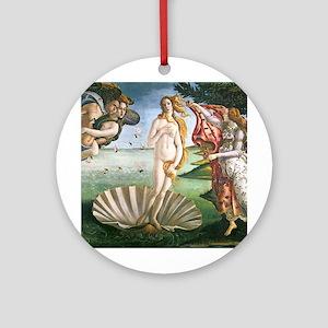 The Birth Of Venus Ornament (Round)
