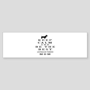 Keep Calm Australian Terrier Designs Sticker (Bump
