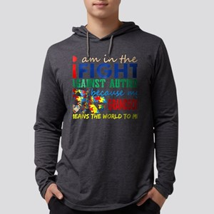 Im Fight Against Autism Grandson Mens Hooded Shirt