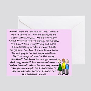 Funny retirement greeting cards cafepress group retirement pink greeting card m4hsunfo