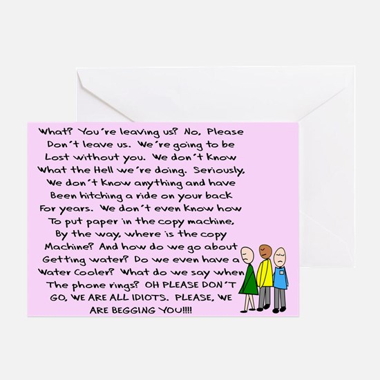 group retirement pink Greeting Card