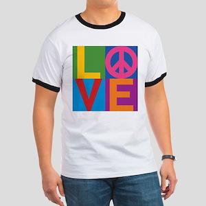 Color Block LOVE=Peace T-Shirt
