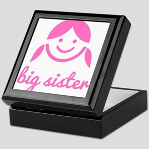 big sister design with cute pink girl icon Keepsak