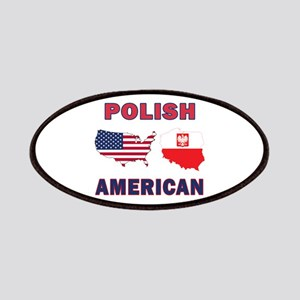 Polish American Pride Map Patches