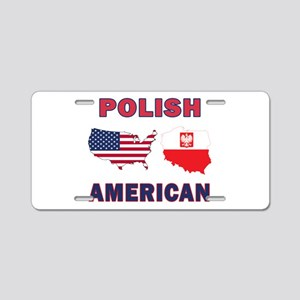 Polish American Pride Map Aluminum License Plate