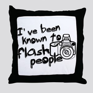 Flash People Throw Pillow