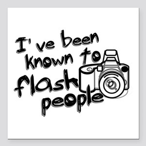 "Flash People Square Car Magnet 3"" x 3"""