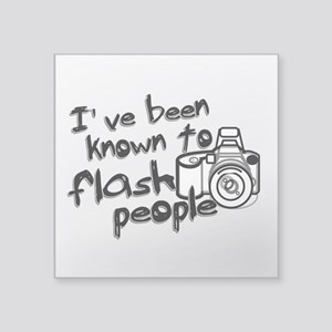 "Flash People Square Sticker 3"" x 3"""