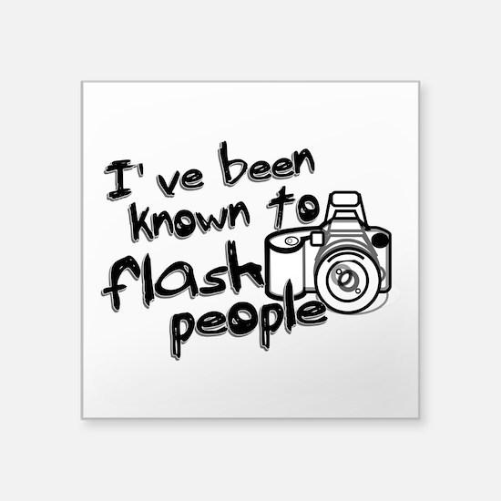 "Flash People Square Sticker 3"" x 3"""