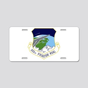 102nd FW Aluminum License Plate