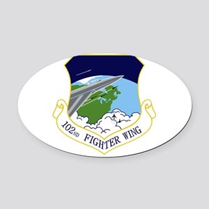 102nd FW Oval Car Magnet